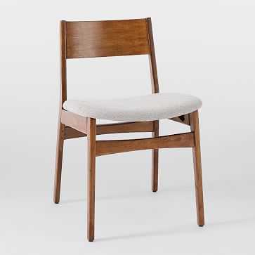 Baltimore Dining Chair, Walnut, Stone, Twill Set of 2 - West Elm