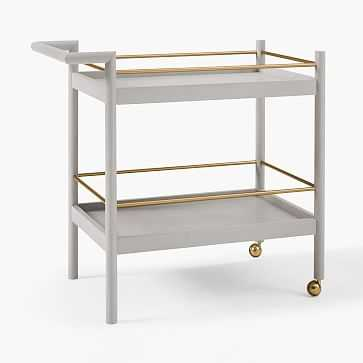 Mid-Century Bar Cart, Pebble - West Elm