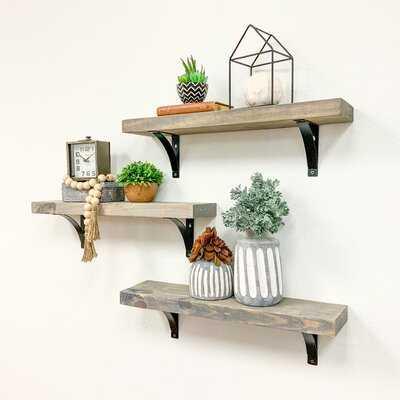 Devyn 3 Piece  Bracket Shelf - Wayfair