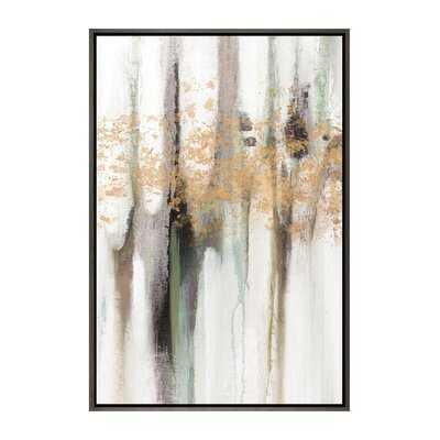 'Falling Gold Leaf I' Painting Print on Wrapped Canvas - Wayfair