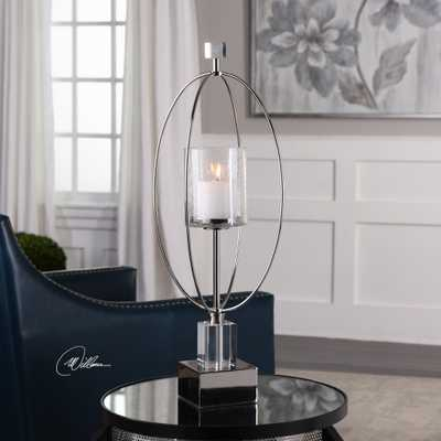 Tamra Polished Silver Candleholders - Hudsonhill Foundry