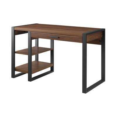 Theodulus Desk -Dark Walnut - Wayfair