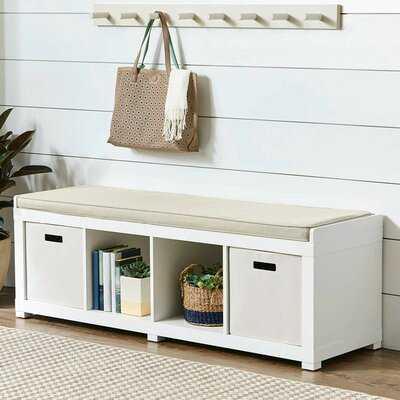 Wirrida Upholstered Cubby Storage Bench - Wayfair