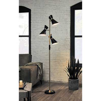 Jared Antique Brass and Black 3-Light Tree Floor Lamp - Style # 87W21 - Lamps Plus