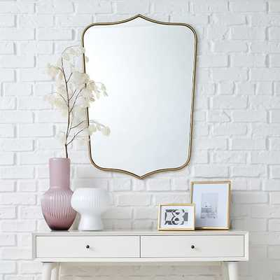 Florence Shield Wall Mirror, Small - West Elm