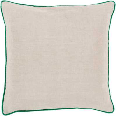 """Linen Piped - LP-002 - 18"""" x 18"""" - pillow cover only - Neva Home"""