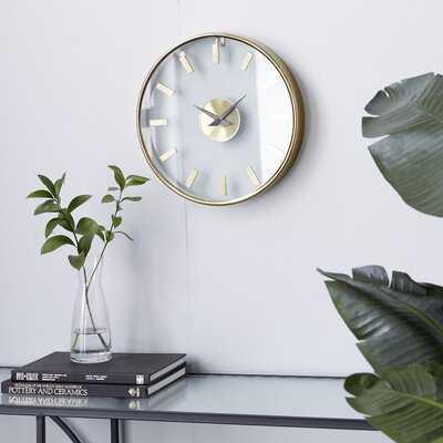 """Inaayah 13.6"""" Wall Clock - Wayfair"""