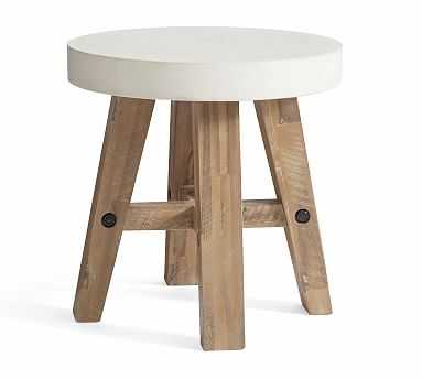 Capitola Concrete Round Side Table - Pottery Barn