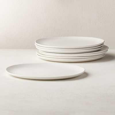 Crisp Matte White Dinner Plates Set of 8 - CB2