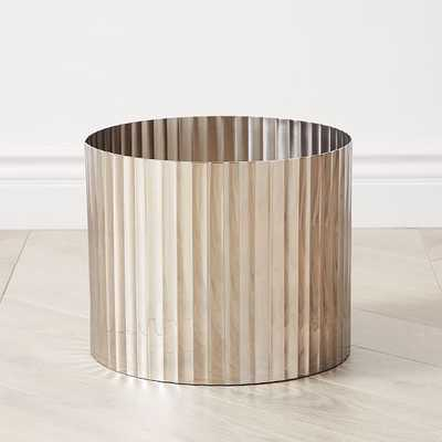 Pure Foundations Metal Planters, Large Vessels, Polished Nickel - West Elm