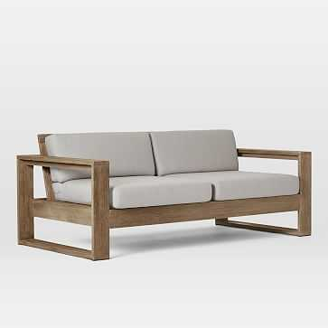 "Portside Outdoor 75"" Sofa, Driftwood - West Elm"