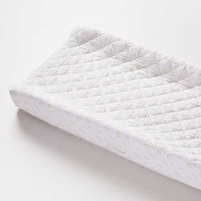 Organic White Muslin Changing Pad Cover - Crate and Barrel