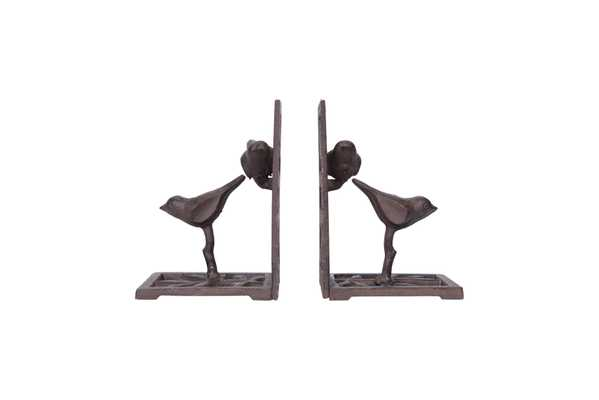 Cast Iron Bird Shaped Bookends (Set of 2 Pieces) - Nomad Home
