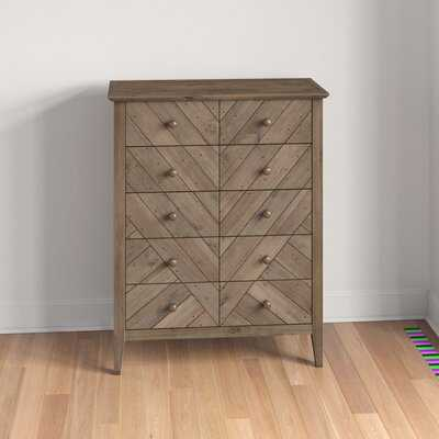 Kidsgrove Reclaimed Pine 5 Drawer Dresser - Wayfair