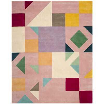 Caruso Hand-Tufted Wool Pink/Orange/Beige Rug - Wayfair