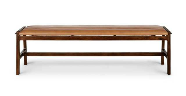 Kirun Toscana Tan Walnut Bench - Article