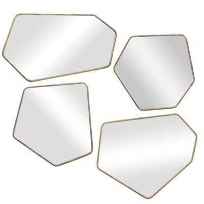 4 Piece Amirah Scandinavian Beveled Mirror Set - Wayfair