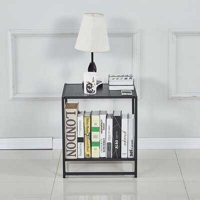 Nerses Steel Nightstand in Black - Wayfair