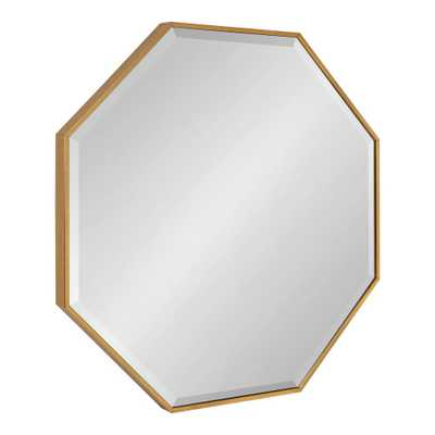 Kate and Laurel Rhodes 29 in. x 29 in. Modern Octagon Gold Wall Mirror - Home Depot