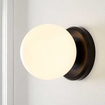 Hayes Sconce, Dark Bronze, Individual - West Elm