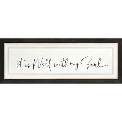 Picture Frame Textual Art Print on Wood - Wayfair