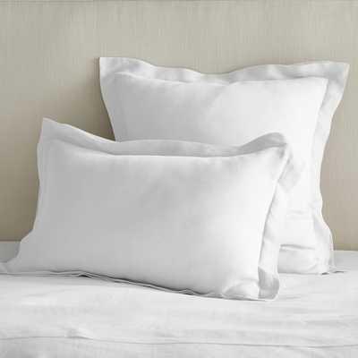 Chambers Linen Duvet Cover & Shams, King Sham, White - Williams Sonoma