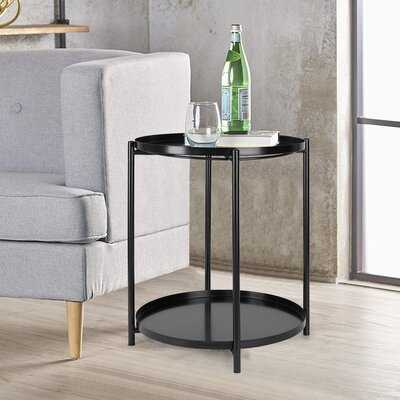 Portledge Tray Top End Table with Storage - Wayfair