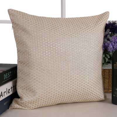 Analyn Square Faux leather Pillow Cover - Wayfair