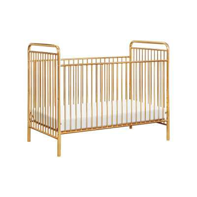 Jubilee Metal 3-in-1 Convertible Crib Color: Gold - Perigold