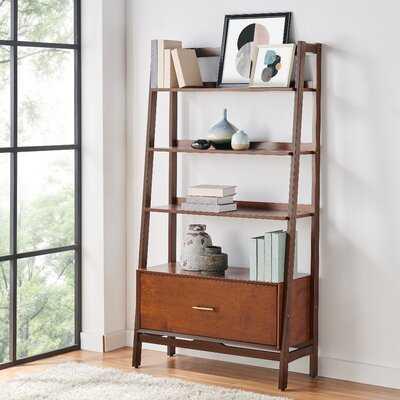 "Alphonse 70.25"" H x 38"" W Ladder Bookcase - Wayfair"