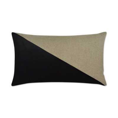 D.V. Kap Jefferson Lumbar Pillow Color: Black - Perigold