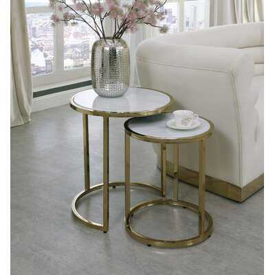 Jelissa 2 Piece Nesting Tables - Wayfair