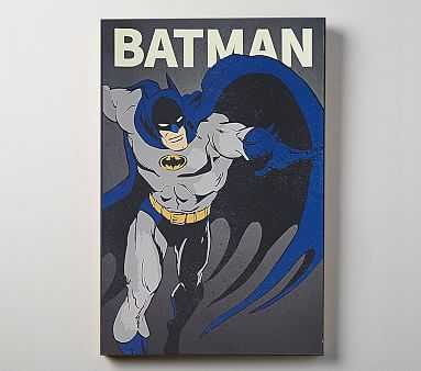 DC Comics Glow In The Dark Art, Batman - Pottery Barn Kids