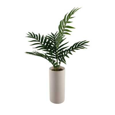 FLORA BUNDA 28 in. Palm in 10.5 in. Textured Ceramic Vase - Home Depot
