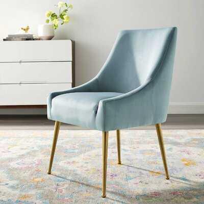 Vella Velvet Upholstered Side Chair - Wayfair
