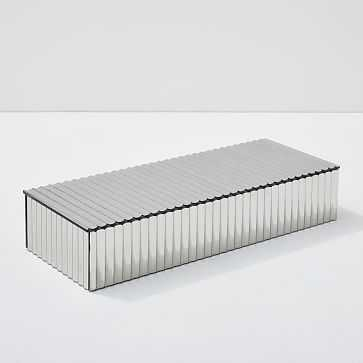 Pure Fluted Mirror Accessory Box, Rectangle - West Elm
