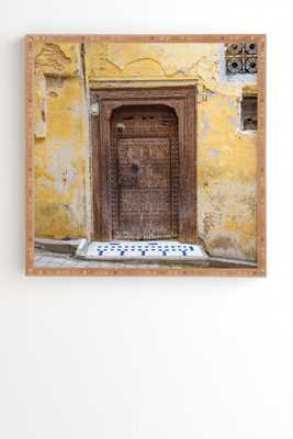 """Fes Number 23 by TRVLR Designs - Framed Wall Art Bamboo 30"""" x 30"""" - Wander Print Co."""