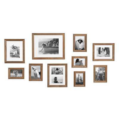 Kate and Laurel Bordeaux Natural Wood Picture Frames (Set of 10) - Home Depot
