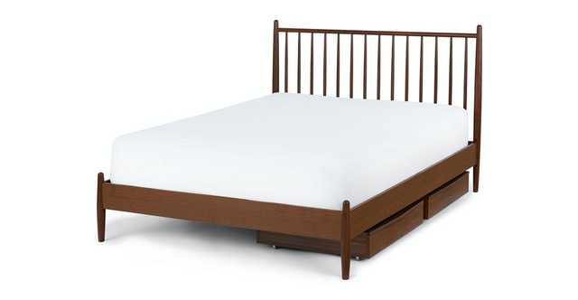 Lenia Walnut Queen Bed Set - Article