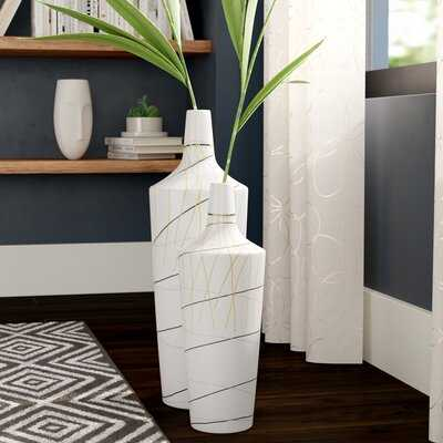 Geoffe 2 Piece Floor Vase Set - Wayfair