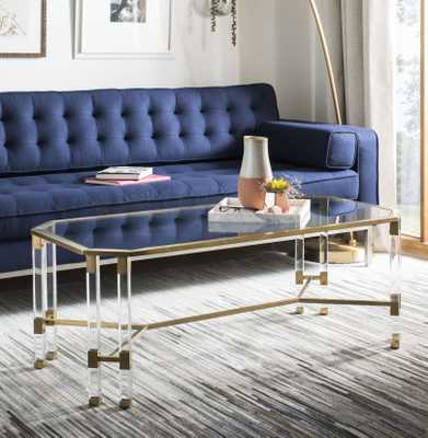 Chandon Acrylic Coffee Table - Bronze - Arlo Home - Arlo Home