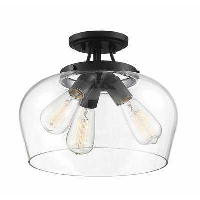 Hickerson 3-Light Semi Flush Mount - Wayfair