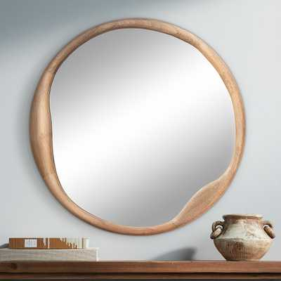 """Jamie Young Organic Natural Wood 36"""" Round Wall Mirror - Style # 94V25 - Lamps Plus"""