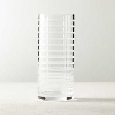 Eyvette Carved Glass Vase - CB2