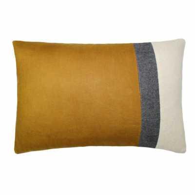 Tourmaline Home Valley Block Boudoir Linen Lumbar Pillow Color: Mustard - Perigold