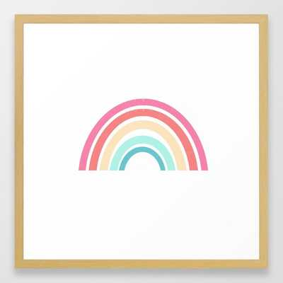 Rainbow Art Print Perfect For Kids Room Decor Nursery Art Framed Art Print by Charlottewinter - Conservation Natural - MEDIUM (Gallery)-22x22 - Society6