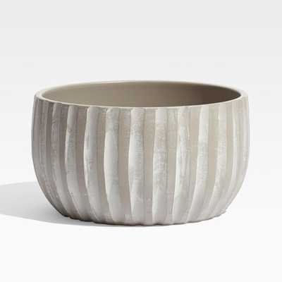 Mae Wide Cement Planter - Crate and Barrel
