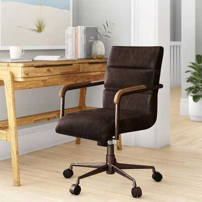 Hortencia Genuine Leather Conference Chair - Wayfair