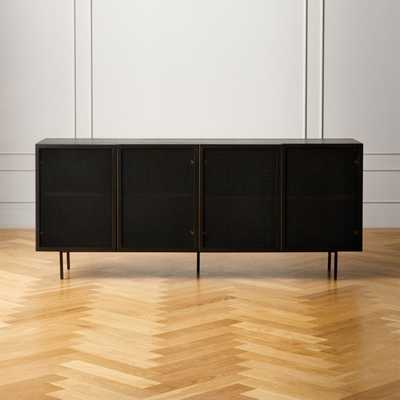 Trace Black Wire Mesh Cabinet Credenza - restock late March - CB2
