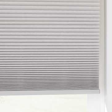 "Light Filtering Honeycomb Shade, Platinum, 63""x48"" - West Elm"
